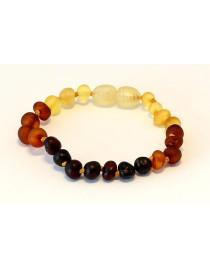 Raw Rainbow Baroque Baby teething Baltic amber bracelet BTB67