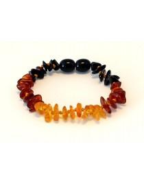 Rainbow Chips Baby teething Baltic amber bracelet BTB68