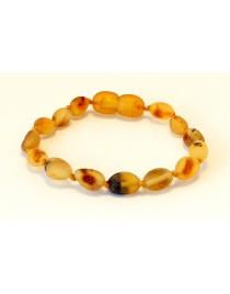 Raw Beans Baby teething Baltic amber bracelet BTB73
