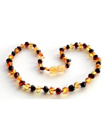 BAROQUE Baby teething amber necklace