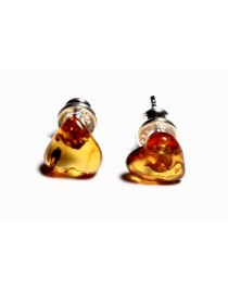 Cognac Baltic Amber Earring