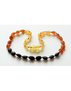 Raw Rainbow Beans Baby teething Baltic amber necklace RB14