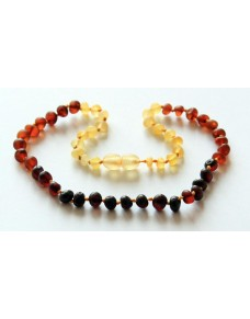 Raw Rainbow Baroque Baby Teething Baltic Amber Necklace BT17