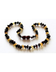 Multi Nuggets Baby teething Baltic amber necklace RBT18