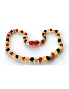 Raw Multi Baroque Baby teething Baltic amber necklace BT18