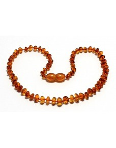 Cognac Nuggets Baby teething Baltic amber necklace RBT1