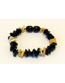 Multi Chips Baby teething Baltic amber bracelet