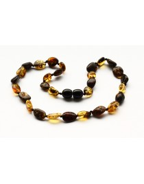 Beans baby teething Baltic amber necklace