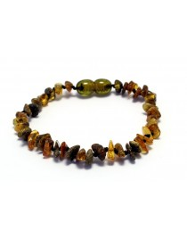 (16cm)ChipsMulti Baby teething Baltic amber bracelet TAB15