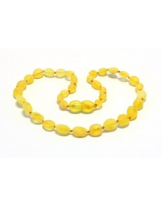 Raw Lemon Beans Baby teething Baltic amber necklace RB17