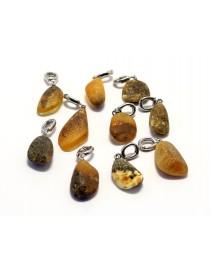 10 items Baltic Amber pendants P51