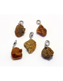 5 items Baltic Amber pendants P54